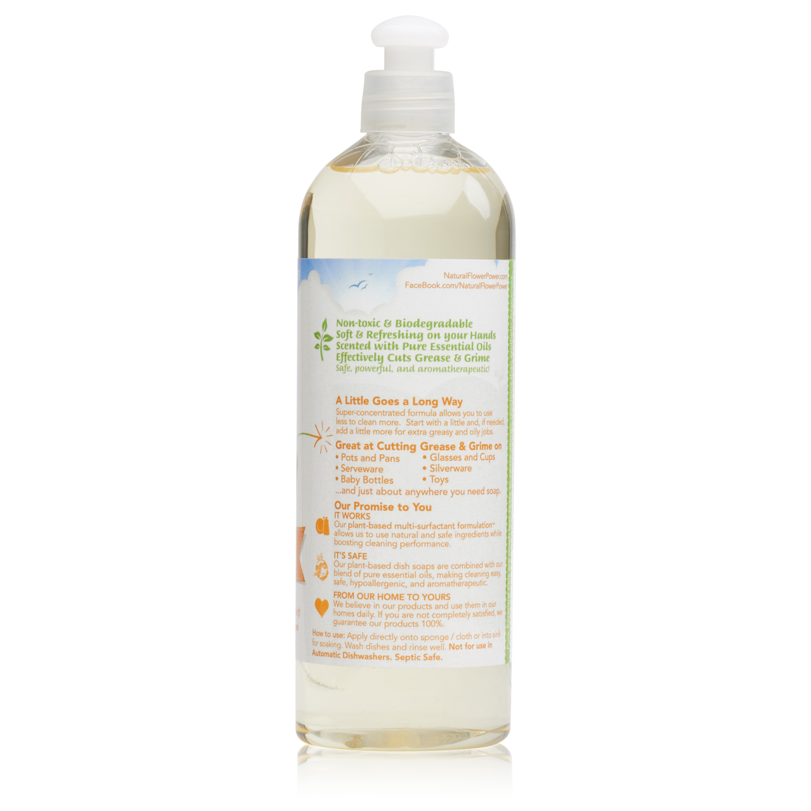 Natural Dish Soap Citrus & Spice – Back
