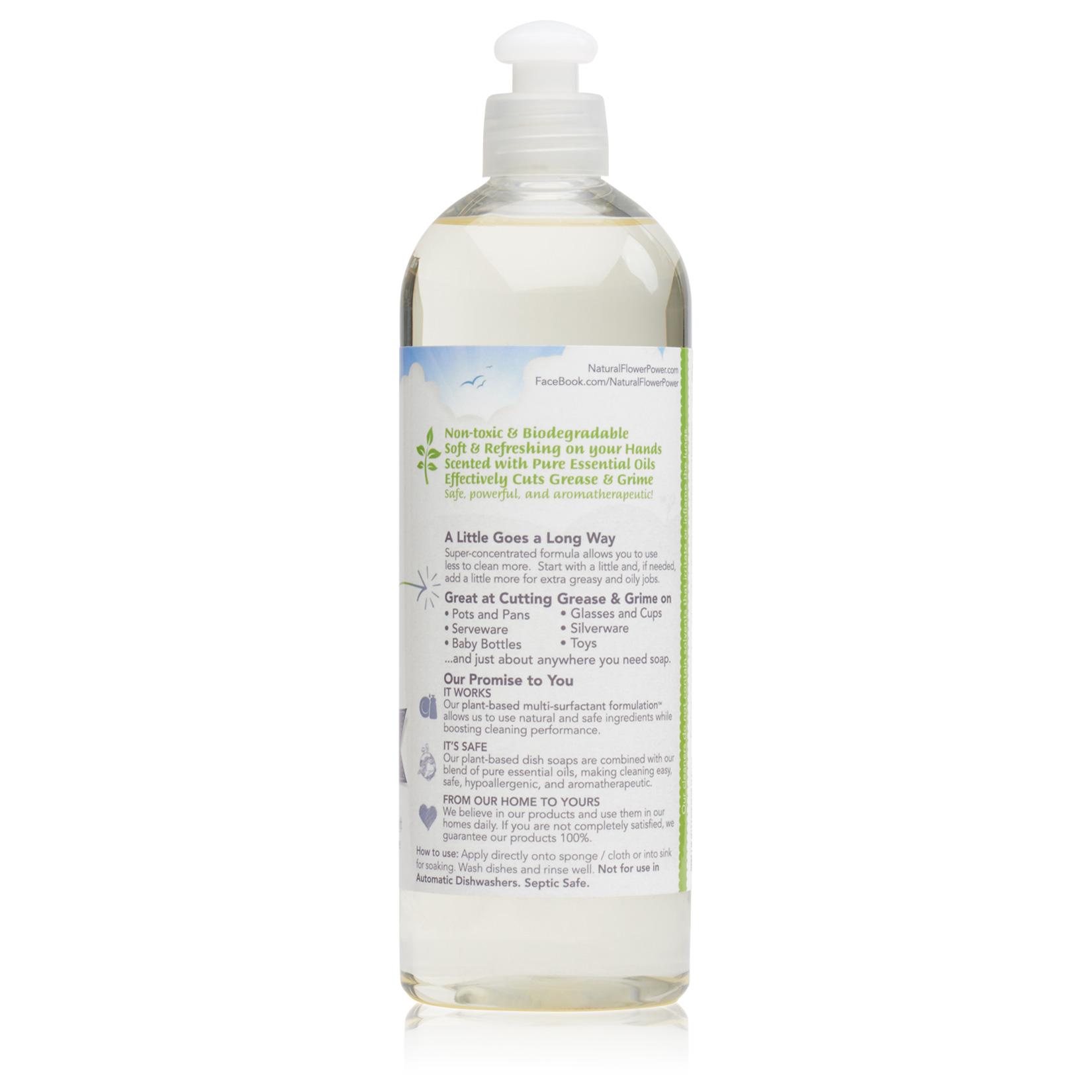 Natural Dish Soap Lavender – Back
