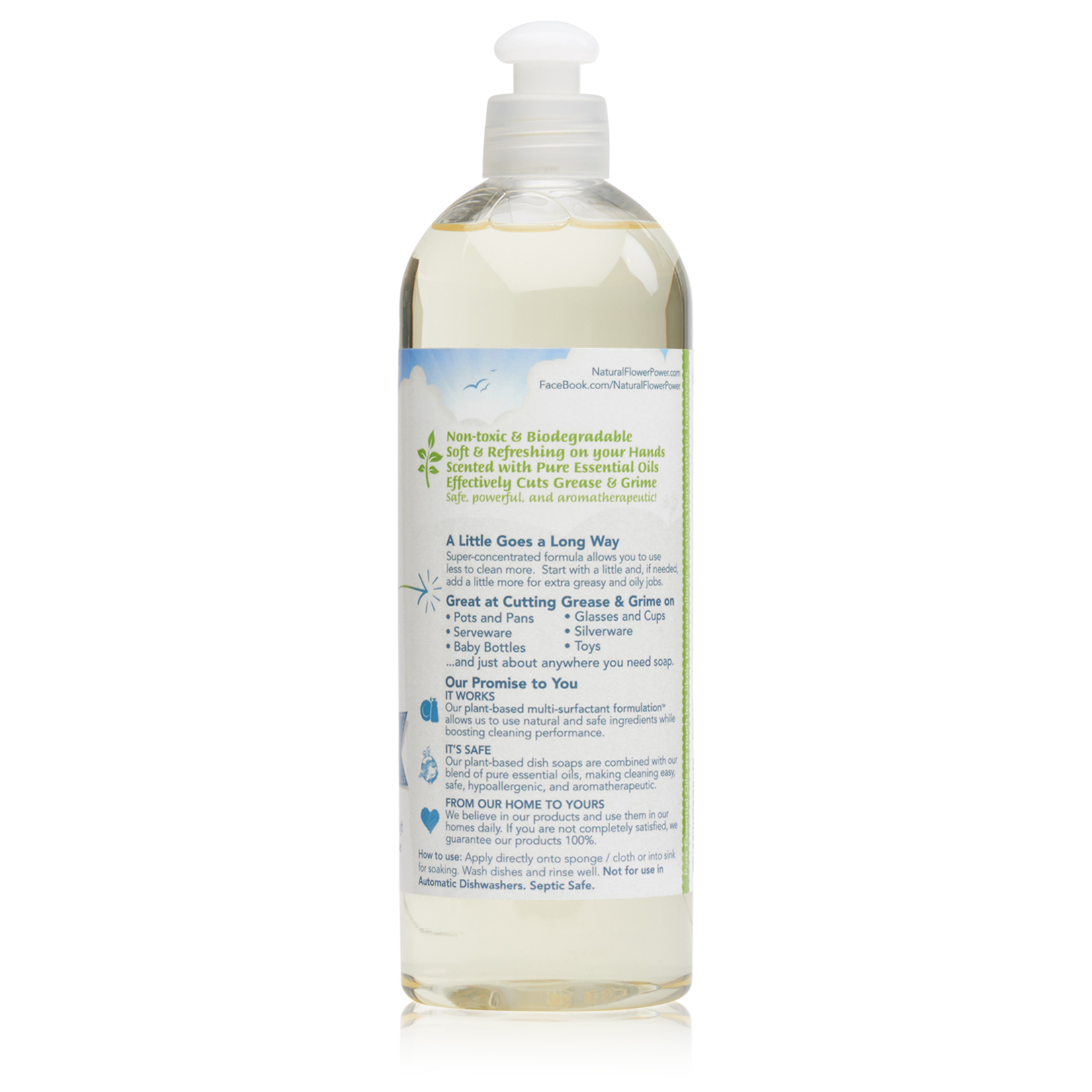 Natural Dish Soap Lemongrass – Back