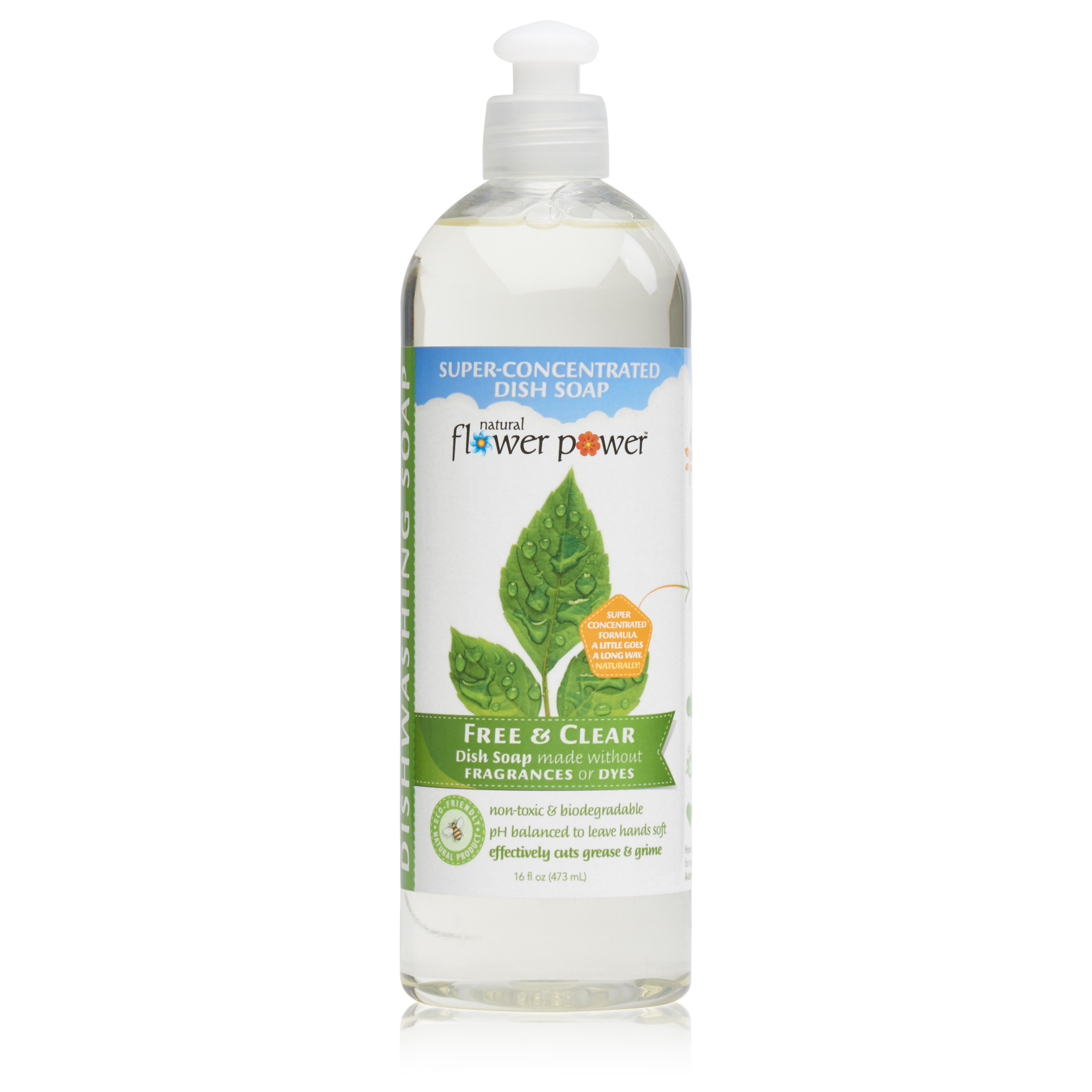 Natural Dish Soap Free & Clear – Front