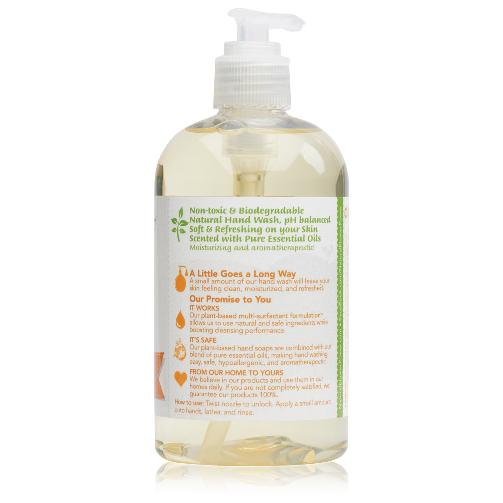 Natural Liquid Hand Soap Citrus & Spice – Back