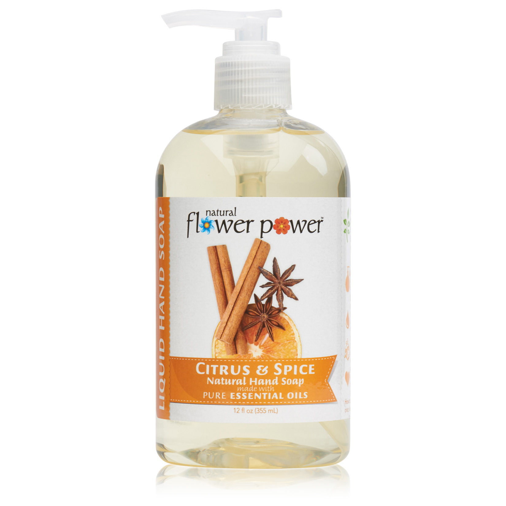 Natural Liquid Hand Soap Citrus & Spice – Front