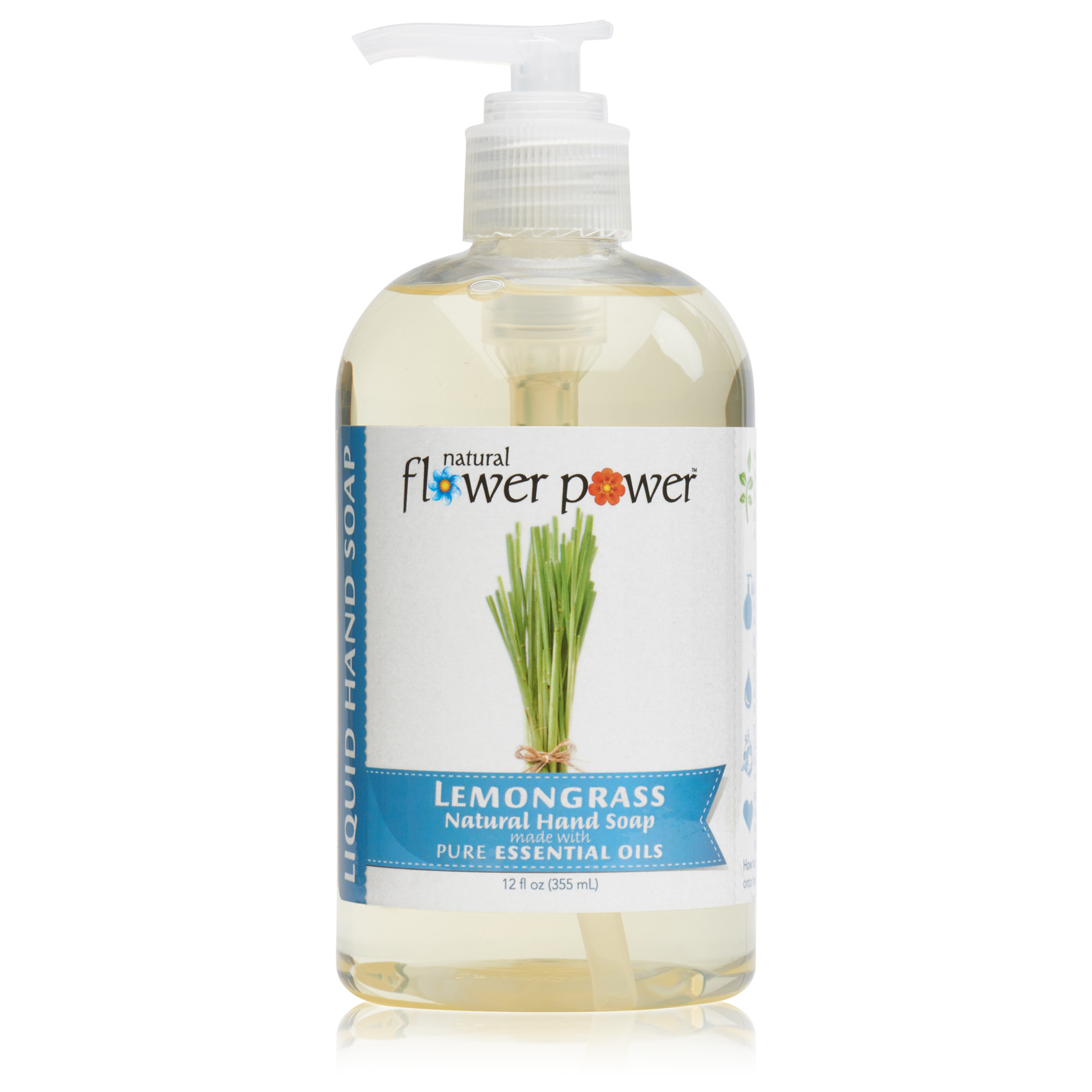 Natural Liquid Hand Soap Lemongrass – Front