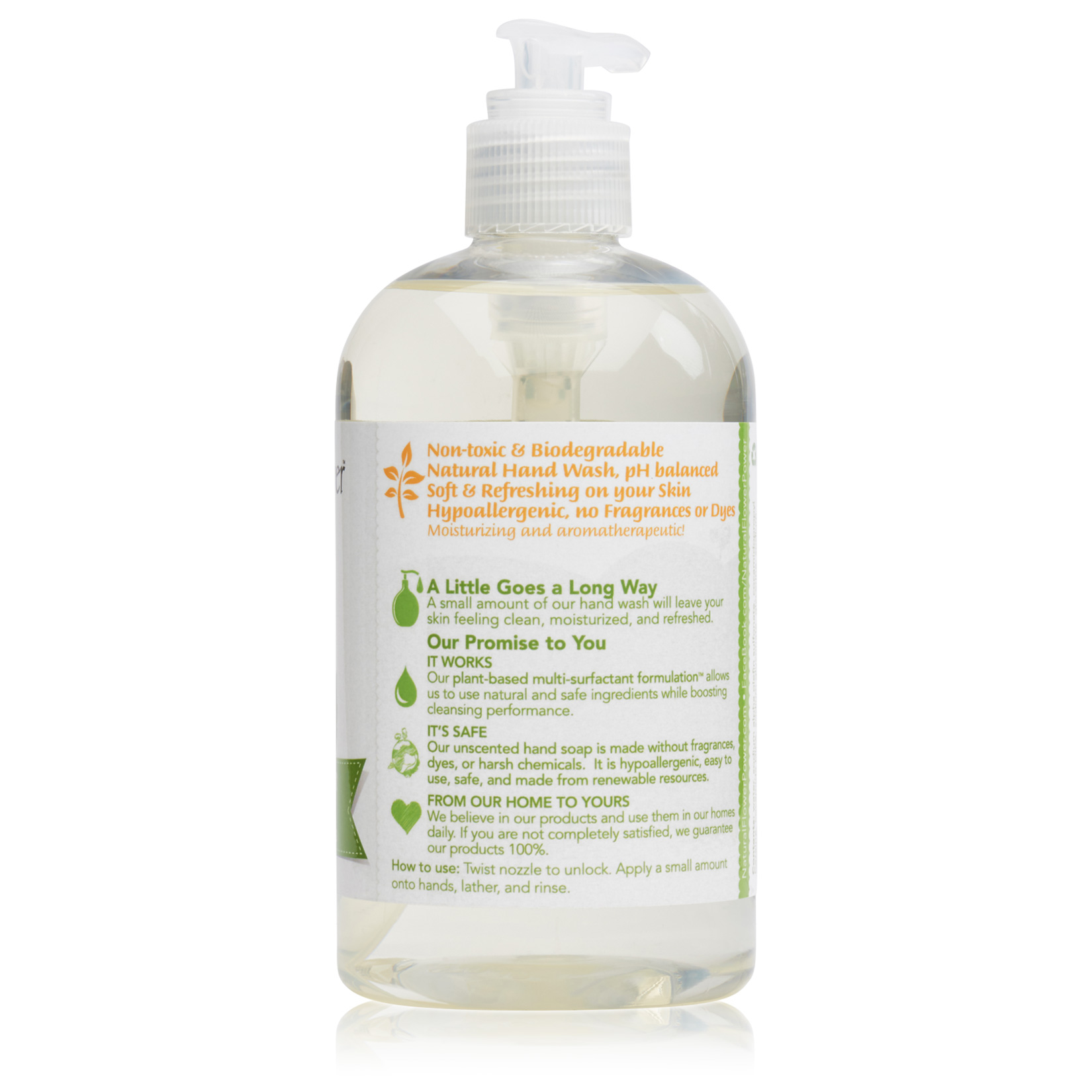 Natural Liquid Hand Soap Free & Clear – Back
