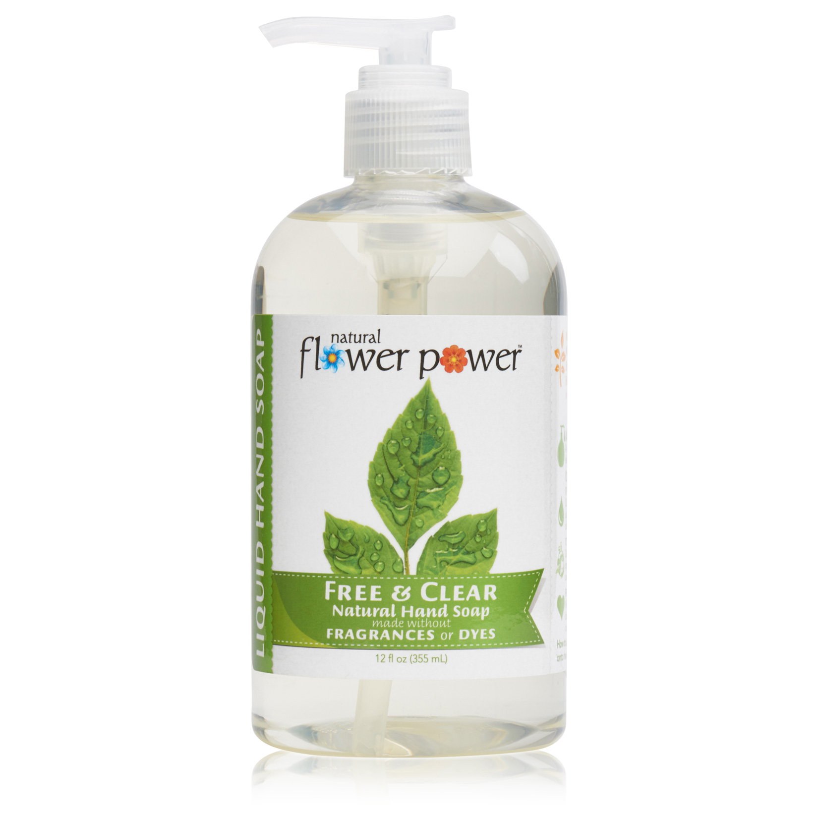 Natural Liquid Hand Soap Free & Clear – Front